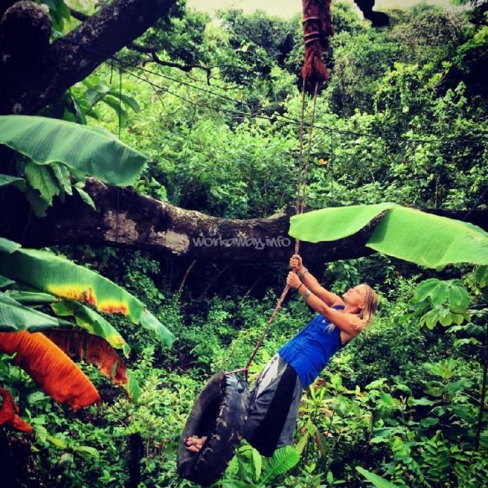 jungle swinging
