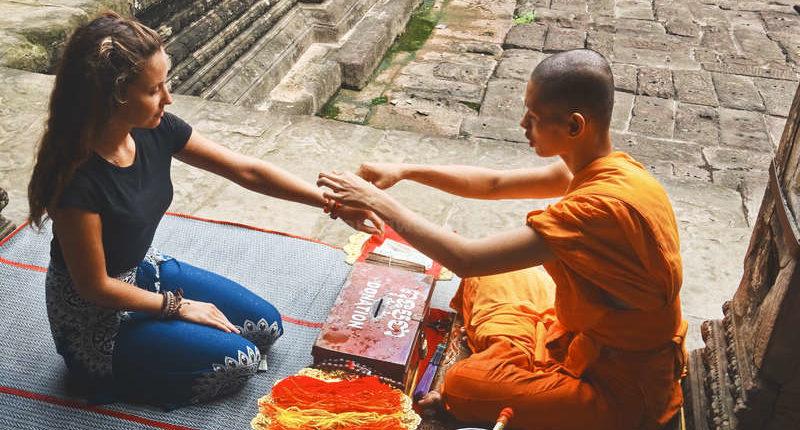 monk volunteering temple ceremony