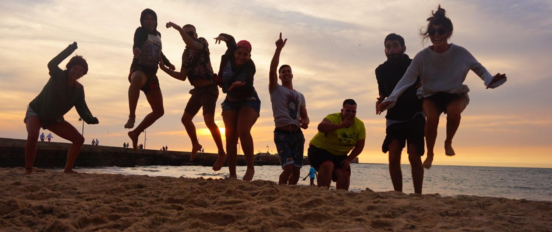 beach fun comfort zone group volunteer sunset